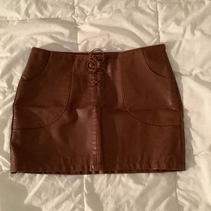 Brown Forever 21 mini skirt - size S